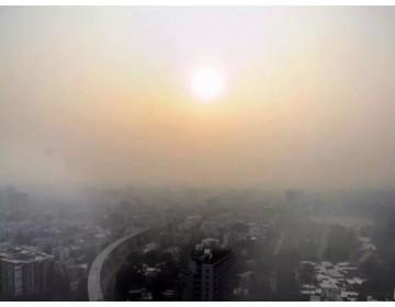 Пыль мешает камерам видеонаблюдения в индийском мегаполисе